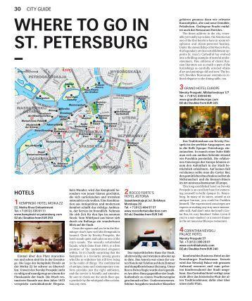 Swiss Inflight Magazine – Where to go in St - Liden & Denz