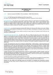 Effectif : 12 participants MA PREMIERE COLO De 4 ... - Léo Lagrange