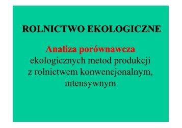 Rolnictwo ekologiczne jako przykład ... - Baltic Green Belt