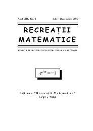 Revista (format .pdf, 1.4 MB) - RECREAÅ¢II MATEMATICE