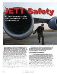 An SwRI-developed trending tool helps analyze jet engine ...