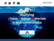 Applying Phase Change Materials in sustainable labs - FNLa