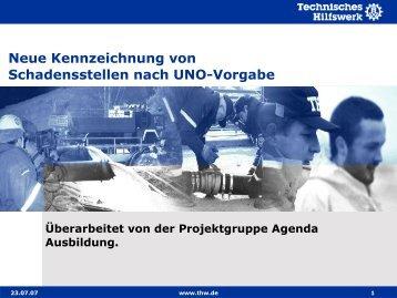 Neue Kennzeichnung von Schadensstellen nach UNO-Vorgabe
