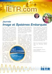 Analyse et synthèse de visages images ou vidéos - IETR