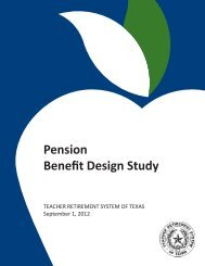 Final Report on Pension Benefit Design - TRS