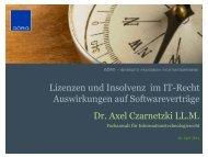 ausschließliche - Dr. Axel Czarnetzki LL.M.