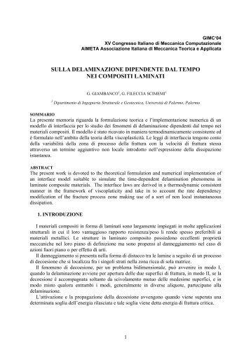 G. Giambanco, G. Fileccia Scimemi - Ingegneria strutturale e ...