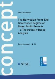 The Norwegian Front-End Governance Regime of ... - Concept - NTNU
