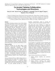 Co-located Tabletop Collaboration: Technologies and Directions