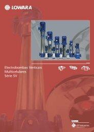 Electrobombas Verticais Multicelulares Série SV