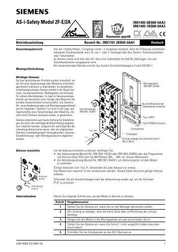 AS-i-Safety Modul 2F-E/2A - Siemens