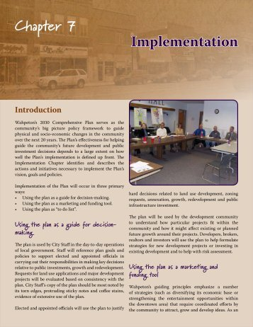 Chapter 7 Implementation - City of Wahpeton