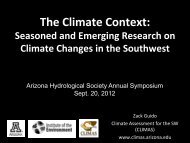 The Climate Context: - Arizona Hydrological Society