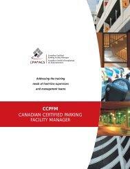 Download program brochure - Canadian Parking Association