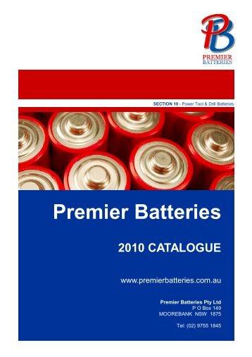 Power Tool & Drill Batteries - Premier Batteries