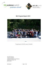 MLS Program Report 2010 - Life Science Zurich Graduate School