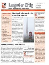 rung Hochkamin - Gemeinde Lengwil