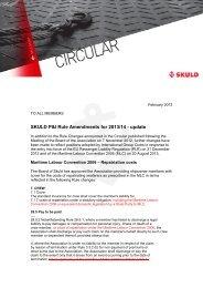 Rule Changes for 2013/14 - Skuld