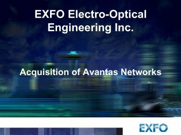 EXFO Electro-Optical Engineering Inc.