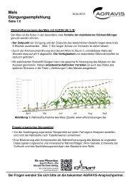 Düngungsempfehlung - AGRAVIS Ems-Jade GmbH