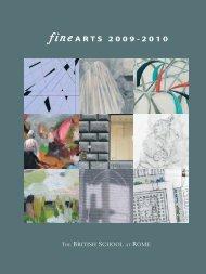 fine ARTS 2009-2010 - The British School at Rome