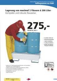 Lagerung von maximal 2 Fässern à 200 Liter - Kompakte und ...
