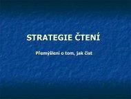 Strategie čtení - Čtení a vše související
