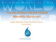 Q&A session - 6th World Water Forum
