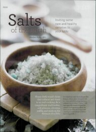 Salts Inviting some new and healthy varieties to your table