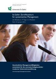 Komplette Broschüre zum Zertifikatskurs - am Institut für ...