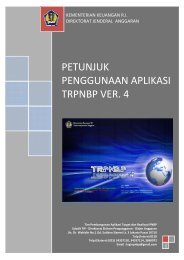 Pedoman Penggunaan Aplikasi TRPNBP ver.4 - Direktorat Jenderal ...