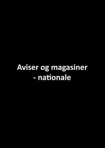 Aviser og magasiner - nationale - Kulturhavn