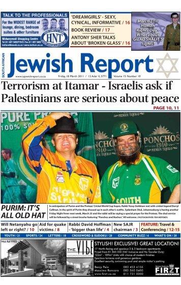 Terrorism at Itamar - South African Jewish Report