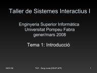 Introducción a los Sistemas Interactivos - Universitat Pompeu Fabra