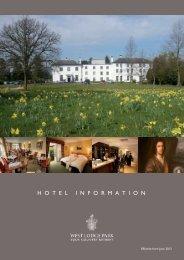Hotel Information... - Beales Hotels