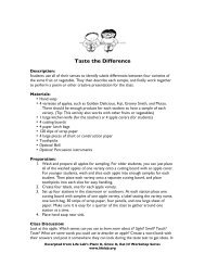 Taste The Difference Activity.pdf - Life Lab