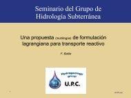 Una propuesta de formulación lagrangiana para transporte ... - UPC