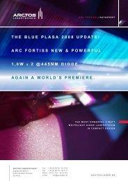 THE BLUE PLASA 2008 UPDATE! ARC FORTISS NEW ...