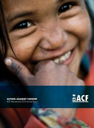 ACF International Annual Report 2010 - Action Against Hunger