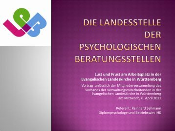 Lust und Frust am Arbeitsplatz - Landesstelle der Psychologischen ...