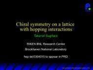Chiral symmetry on a lattice with hopping interactions