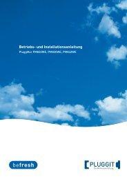 BIA- Betriebs und Installationsanleitung PluggMar Wand ... - Pluggit