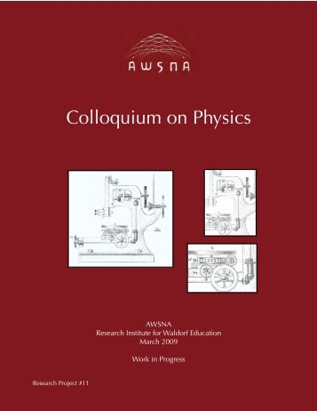 Colloquium on Physics - Waldorf Research Institute