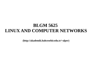 BLGM 5625 LINUX AND COMPUTER NETWORKS - A web page ...
