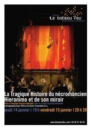 La Tragique histoire du nécromancien Hieronimo - Le Bateau Feu