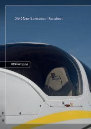 DA40 New Generation - Factsheet - Diamond Aircraft UK