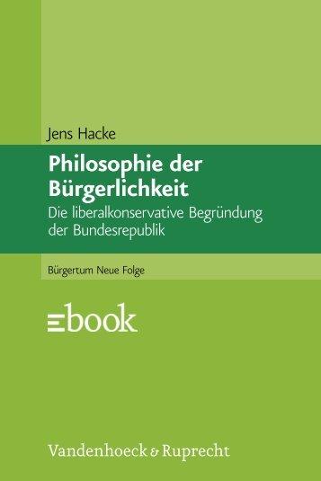 Philosophie der Bürgerlichkeit