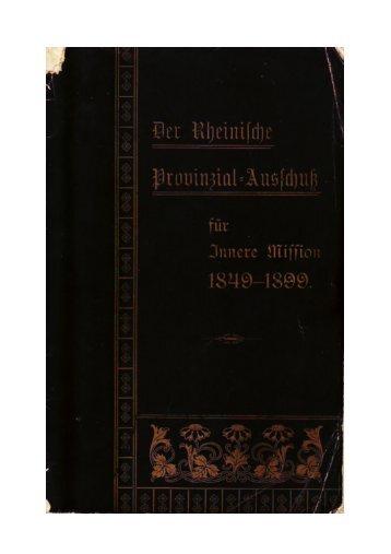 Der Rheinische Provinzial-Ausschuss - unter der muren