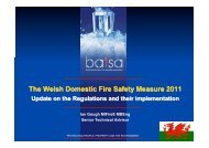Implementing the Domestic Fire Safety (Wales) Measure 2011 - Bafsa