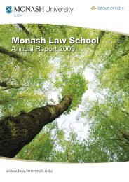 2009 Annual Report - Faculty of Law - Monash University